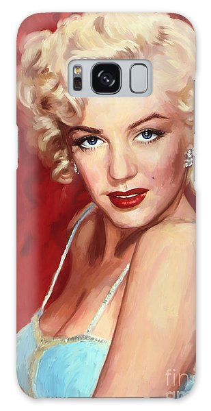 Marilyn Monroe Galaxy Case by Tim Gilliland