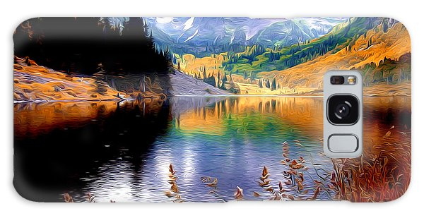 Maroon Bells At Maroon Lake Galaxy Case