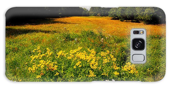 Meadow Filled With Yellow Flowers Galaxy Case