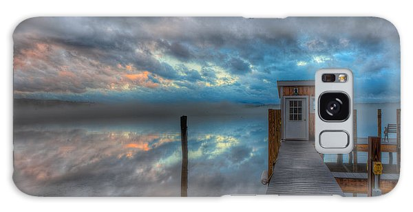 Melvin Village Marina In The Fog Galaxy Case