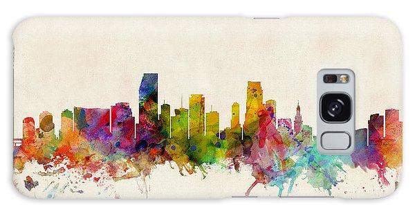 Miami Florida Skyline Galaxy Case by Michael Tompsett
