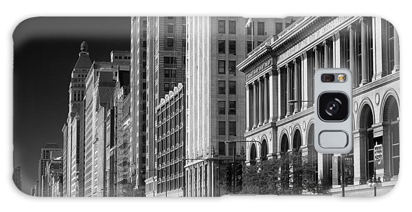 Cultural Center Galaxy Case - Michigan Avenue Chicago B W by Steve Gadomski