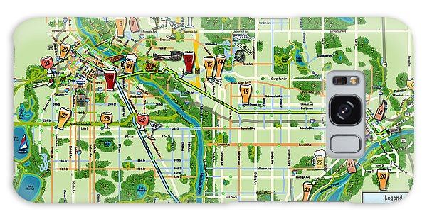 Micro Maps Twin Cities Galaxy Case