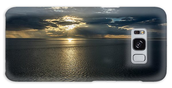 Midnight Sun Over Mount Susitna Galaxy Case