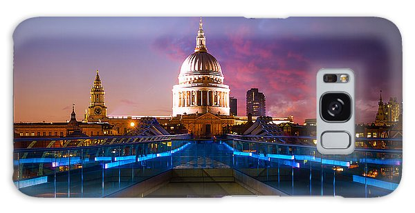 Millennium Bridge Sunset Galaxy Case by Fiona Messenger