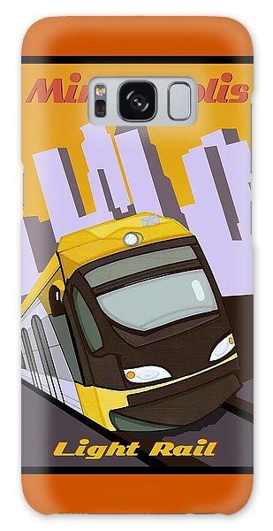 Minneapolis Light Rail Travel Poster Galaxy Case