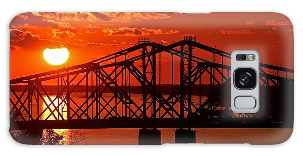 Mississippi River Bridge At Natchez Galaxy Case