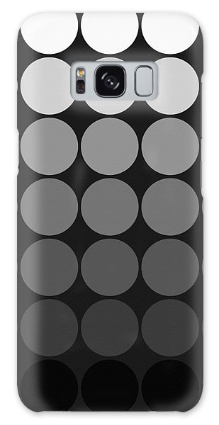 Mod Pop Gradient Circles Black And White Galaxy Case