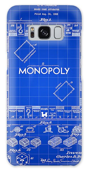 Monopoly Patent 1935 - Blue Galaxy Case by Stephen Younts