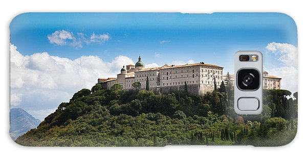 Monte Cassino  Abbey On Top Of The Mountain Galaxy Case