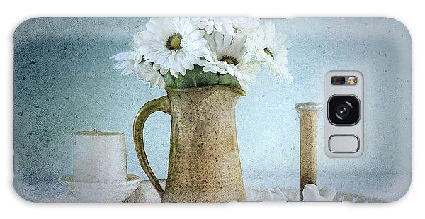 Vase Of Flowers Galaxy Case - Moody Blue by Betty LaRue