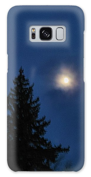 Moon Beyond The Spruce Galaxy Case