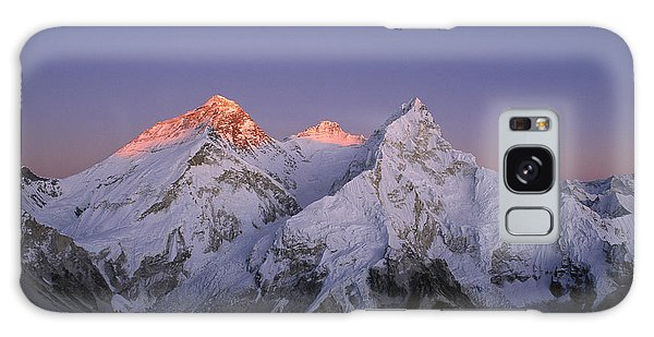 Galaxy Case featuring the photograph Moon Over Mount Everest Summit by Grant  Dixon