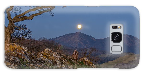 Moon Over Mt Diablo Galaxy Case