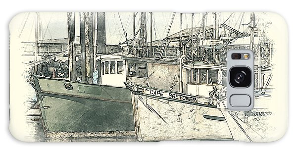 Moored Fishing Boats Galaxy Case