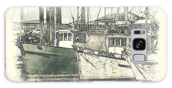 Moored Fishing Boats Galaxy Case by Richard Farrington