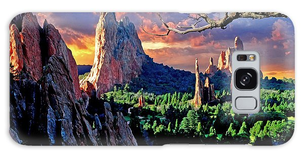 Morning Light At The Garden Of The Gods Galaxy Case
