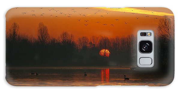 Morning Over River Galaxy Case