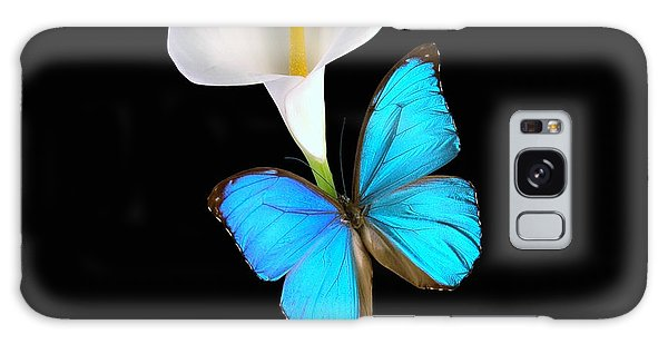 Morpho On Calla Galaxy Case