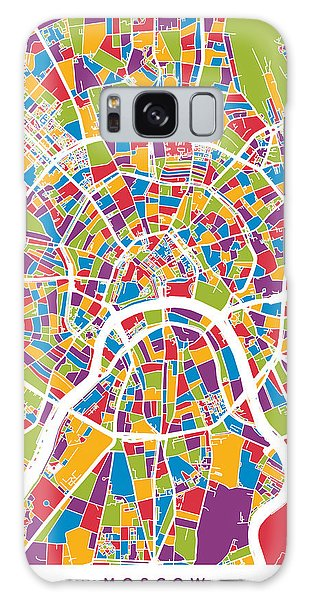 Moscow City Street Map Galaxy Case