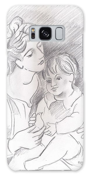 Mother And Child Galaxy Case by John Keaton