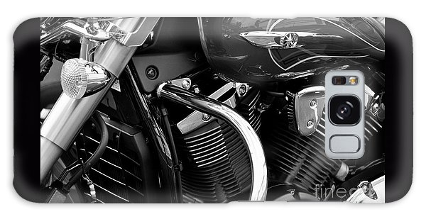 Motorcycle Engine Black And White Galaxy Case