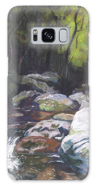 Mountain Stream At Dusk Galaxy Case