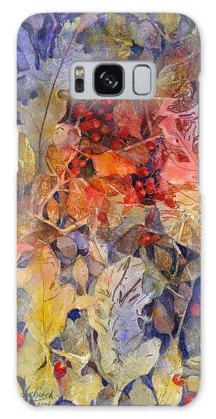 Nandina And Other Fall Foliage Galaxy Case