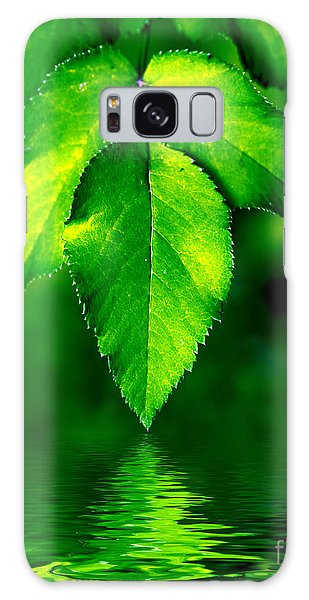Natural Leaves Background Galaxy Case