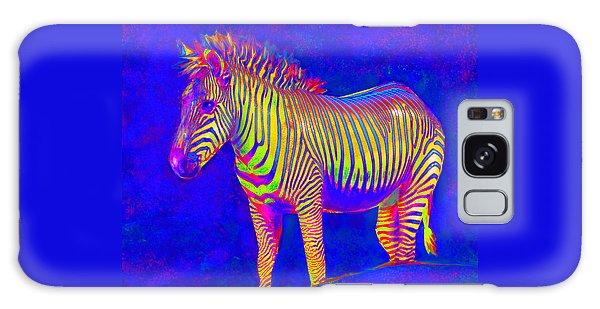 Neon Zebra 2 Galaxy Case by Jane Schnetlage