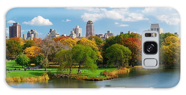 New York City Manhattan Central Park Panorama Galaxy Case