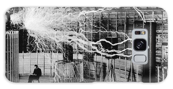 Nikola Tesla Serbian-american Inventor Galaxy Case