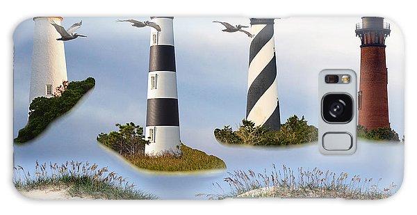 North Carolina's Rt. 12 Lighthouses Galaxy Case