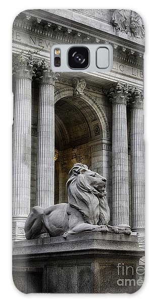 Ny Library Lion Galaxy Case by Jerry Fornarotto