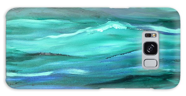 Ocean Swell Abstract Painting By V.kelly Galaxy Case
