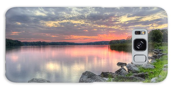 Ohio Lake Sunset Galaxy Case