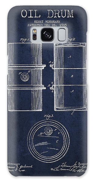 Drum Galaxy S8 Case - Oil Drum Patent Drawing From 1905 by Aged Pixel