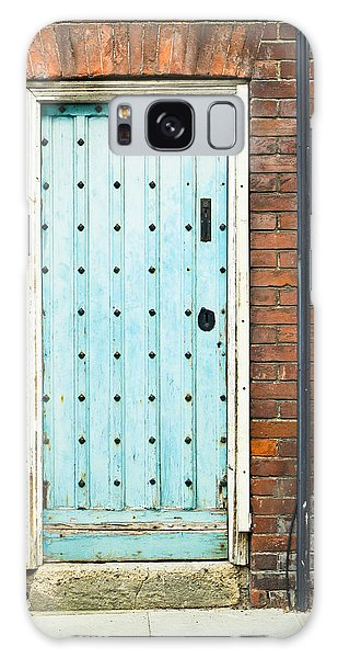 Door Galaxy Case - Old Blue Door by Tom Gowanlock