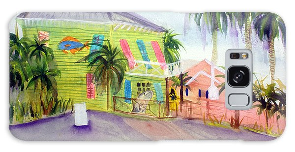 Old Key Lime House Galaxy Case by Donna Walsh