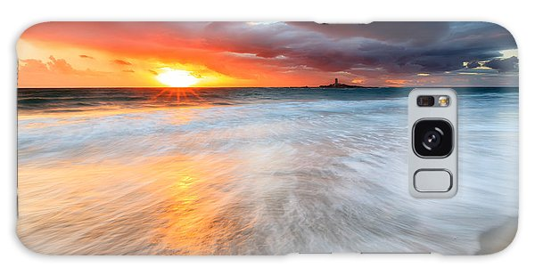 Beach Sunset Galaxy Case - Old Lighthouse by Evgeni Dinev