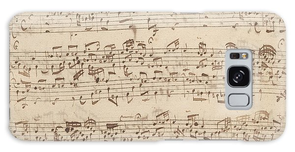 Old Music Notes - Bach Music Sheet Galaxy Case by Tilen Hrovatic