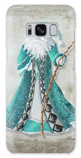 Santa Claus Galaxy Case - Old World Style Turquoise Aqua Teal Santa Claus Christmas Art By Megan Duncanson by Megan Duncanson