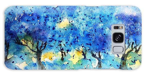 Olive Trees In A Tuscan Garden  Galaxy Case by Trudi Doyle