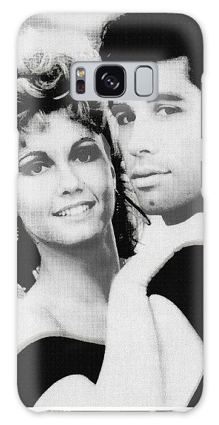 Olivia Newton John And John Travolta In Grease Collage Galaxy Case