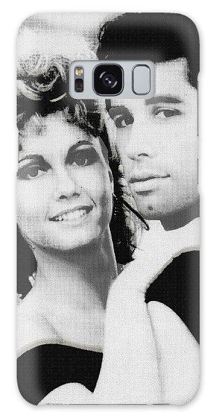 Olivia Newton John And John Travolta In Grease Collage Galaxy Case