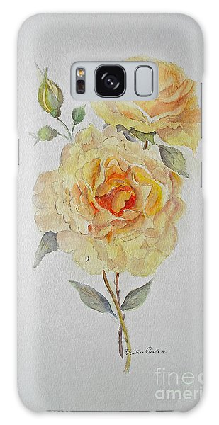 Galaxy Case featuring the painting One Rose Or Two by Beatrice Cloake