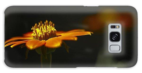 Orange Flower Galaxy Case