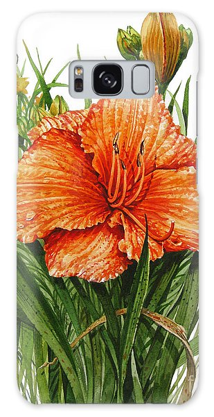 Orange Lily Galaxy Case by Bob  George