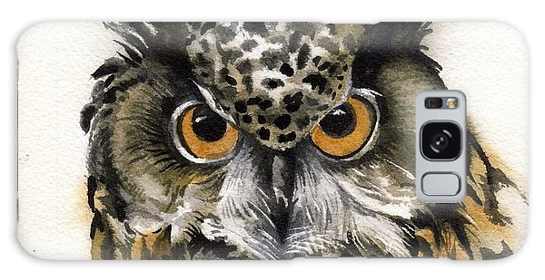 Owl Watercolor Galaxy Case
