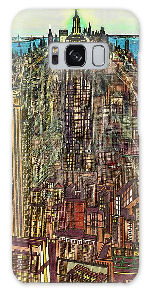 New York Mid Manhattan 71 Galaxy Case by Art America Gallery Peter Potter
